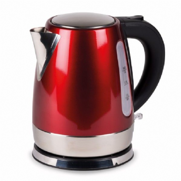 Kampa Cascade 1L Stainless Steel Electric Kettle - Red